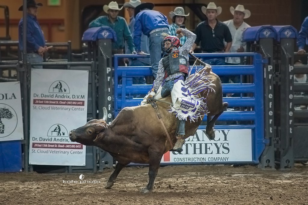 Dyami Nelson. Silver Spurs Rodeo. October 7th, 2017. Kissimmee, Florida